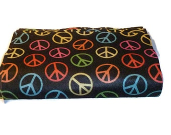 Printed felt squares peace sign 9x12 craft fabric TheFeltCollector arts and crafts