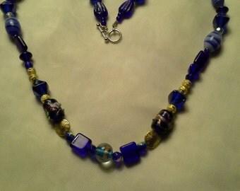 Vintage Glass & Lampworks Necklace