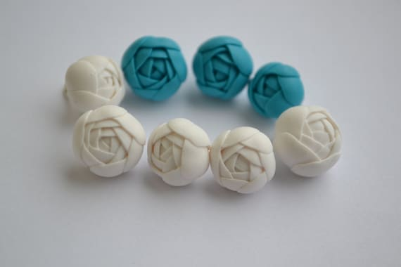 how to make clay beads with flowers
