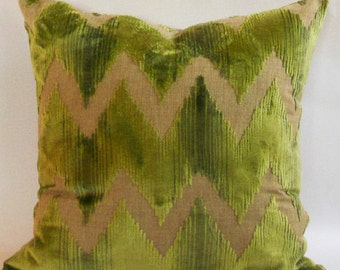 Lee Jofa Watersedge Cut Velvet  Pillow Cover