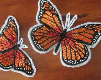 Monarch Butterflies iron on appliques