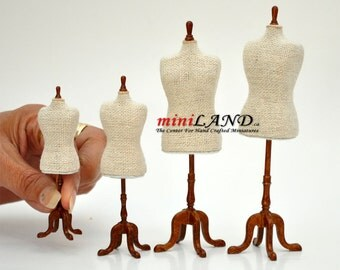 Fine Quality Dress Forms Dollhouse Miniature set 4pcs Family combo 1:12 scale