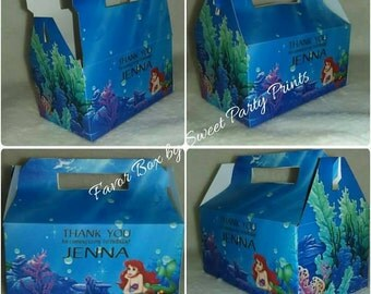 Little Mermaid Personalized Party Favor Box ( SKU# LMFB01 )