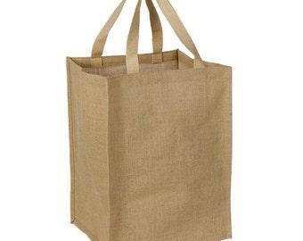 """Jute Tote Bag 11""""W X 16""""H X 12""""G"""