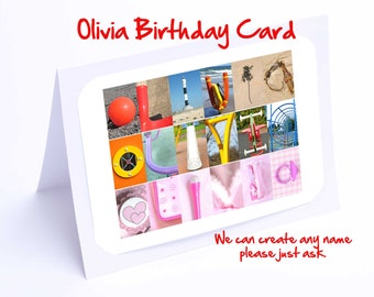 Olivia Personalised Birthday Card