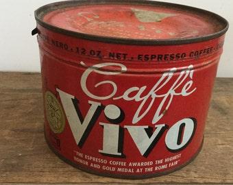 Unopened Vintage Caffé Vivo Italian Expresso Coffee Can