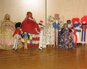 Vintage Clothespin Dolls - Instant Collection - Raggedy, Uncle Sam, Bunny, Bear, Fancy Ladies, French Sailor, African American, Palace Guard