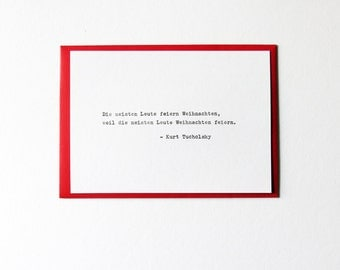 Tucholsky Hand-typed Christmas Card Typewriter