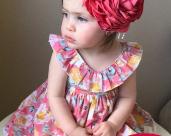 Adele Dress PDF Sewing Pattern, Ruffle Neckline: Sizes 1 to 10
