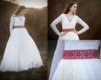 Ivory wedding skirt
