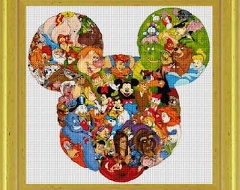 cross stitch pattern, cross stitch, Disney Heroes 30 - NeniDesign - PDF pattern - instant download!