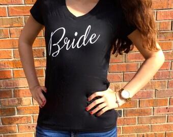 Bride V-neck T-shirt