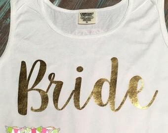 Bride - Foil print- Comfort Color Tank
