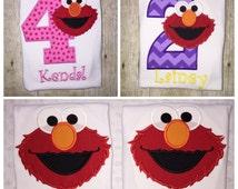 Elmo birthday shirt - embroidered shirt