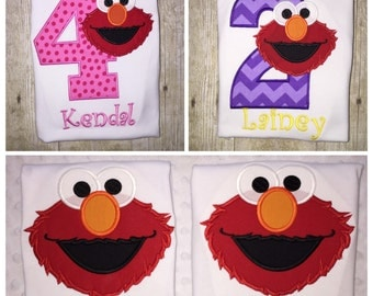Elmo birthday shirt - embroidered shirt