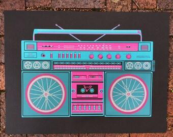 Bike Boombox Poster