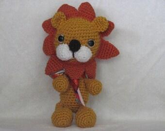 Larry the Lion - Crocheted Stuffed Animal - Very Huggable
