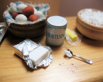 Miniature Cream Cheese, Cooking Miniatures,Bakery Miniatures, Kitchen Miniatures, Miniature food, Dollhouse Food, Fairy Garden Food,