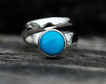 Turquoise Ring Size 5-7 - Arizona Turquoise Ring Size 5-7 - Turquoise Ring - Turquoise Jewelry - Sterling Silver Arizona Turquoise Ring