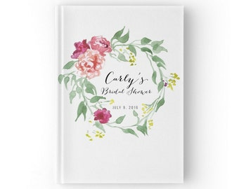 Bridal shower guest book Etsy