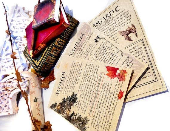 Norse mythology journal pages Asgard Alfheim Vanaheim Thor  Norse mythology...