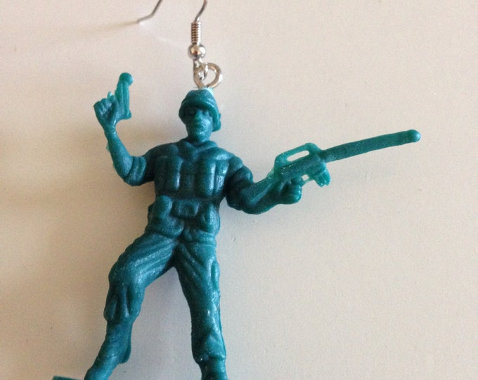 little green army men earrings