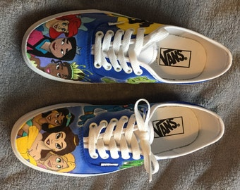 Disney Princess inspired custom Vans