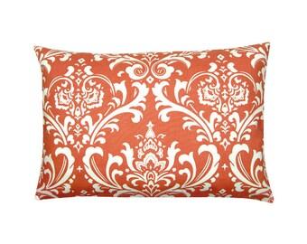 Pillowcase OZBORNE korall red white Baroque ornament 40 x 60 cm