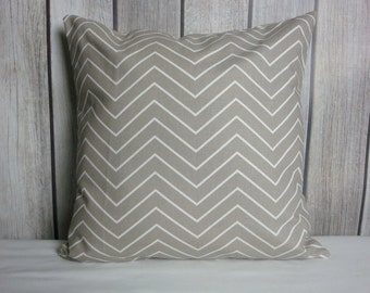 Throw Pillow. Chevron Pillow. Pillow Cover. Ecru Pillow. Tan Pillow. Beige Pillow
