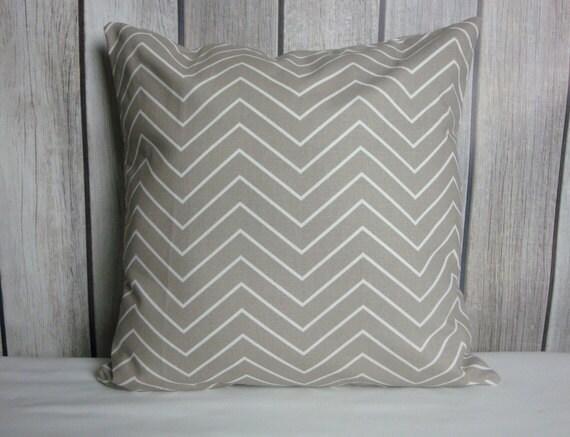 Throw Pillow. Chevron Pillow. Pillow Cover. Ecru Pillow. Tan Pillow. Beige Pillow