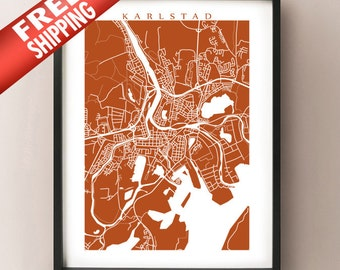Karlstad Map Print