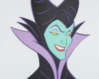 Maleficent Close Up Die Cut - Disney's Sleeping Beauty - Disney's Villains