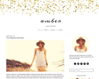 WordPress Theme - Gold WordPress Theme - Feminine WordPress Theme - Mobile Responsive - Genesis - Instant Download