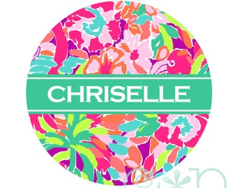 Personalized Retractable Badge Reel or Stethoscope ID Tag L33-N-01