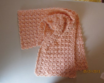 Crocheted Scarf, Light Peach