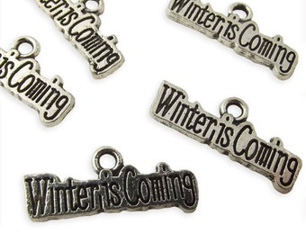 6 x Game of thrones, winter is coming pendants