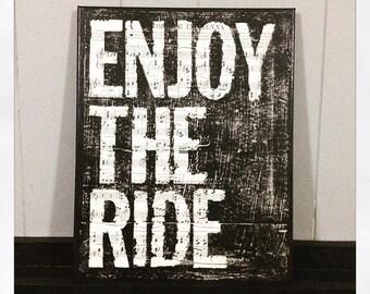 Enjoy The Ride 11X 14 Canvas