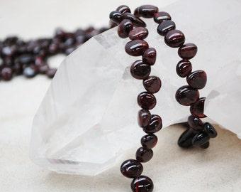 Garnet Irregular Shape Beads 8-10mm
