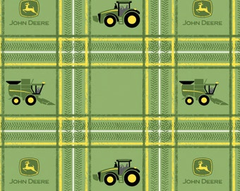 John Deere Tractor Plaid Fabric From Springs Creative
