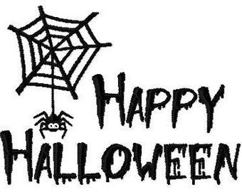 Embroidery Design Happy Halloween 10 - DIGITAL DOWNLOAD PRODUCT