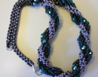 Spiral Rope Beaded Necklace
