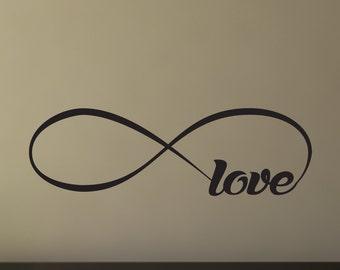 Love decal, love wall decal, loop love decal, love decor, love decorations, love wall art, love wall decor, bedroom decor, D00326.