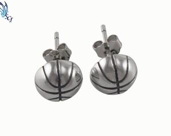 Sterling Silver Sports Earrings, Basketball Earrings, Baseball Earrings, Softball Earrings, Volleyball Earrings, Soccer Earrings, SER320