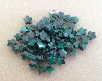 Vintage Malachite 6mm Stars