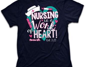 Women's Tee Shirt Nurse Nursing Nurses Women's Christian Clothing
