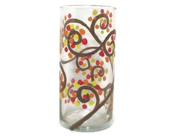 Tree of Life Vase, Fall Candle Holder