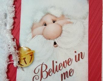 Believe in me Handmade Christmas Card