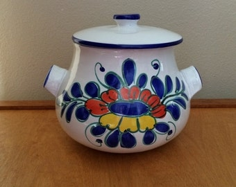 On Sale Hand Painted Casserole Dish - Stoneware from Italy