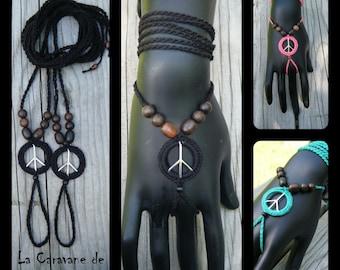 Barefoot sandals or bracelet, peace charm CUSTOM