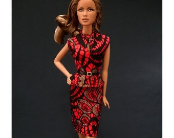 Dolls dress for Fashion royalty,,Silkstone,All barbie doll- No.1128-05